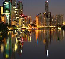 Brisbane Reflections PreDawn by Steve Bass