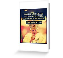 Pope Benedict Greeting Card