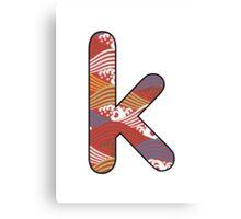 Letter Series - k II Canvas Print