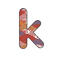 Letter Series - k II Photographic Print