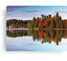 Autumn Nature Lake and Trees art photo print Canvas Print