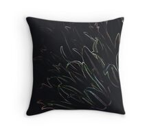 Neon Chives  Throw Pillow
