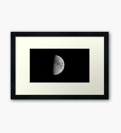 Sunday Morning Moon Framed Print