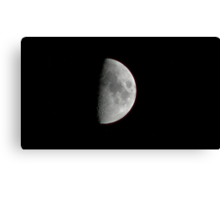 Sunday Morning Moon Canvas Print