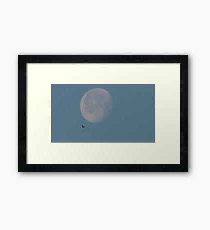 Sunday Morning Moon 3 Framed Print