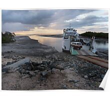 A ferry and mudflats Poster