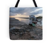A ferry and mudflats Tote Bag