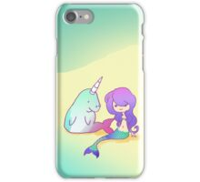 The Mermaid and the Unigong iPhone Case/Skin
