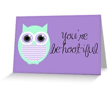 Owl-entine Card Greeting Card