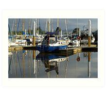 Masts in the morning: Launceston Art Print