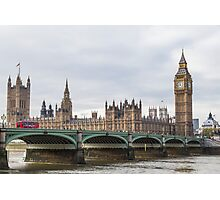 London Big Ben and Parliament River Thames Photographic Print