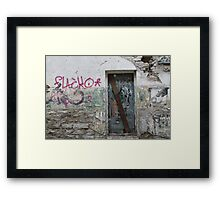 Ode to Graffiti Framed Print