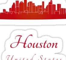 Houston skyline in red Sticker