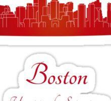 Boston skyline in red Sticker