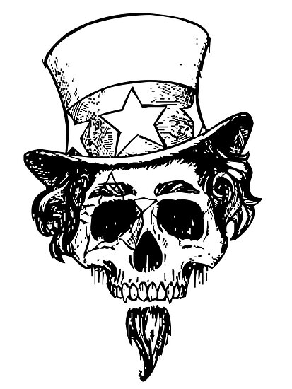 the gallery for gt uncle sam skull drawing