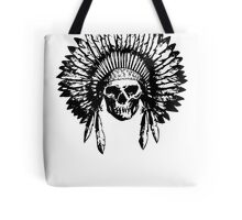 Native American Skull Tote Bag