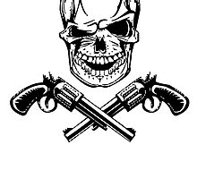 Skull With Guns by kwg2200