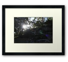 Light colored energies captured in sunset Framed Print