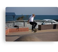 Frontside Flip - Empire Park Skate Park Canvas Print