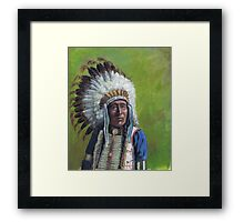 Chief Red Shirt  Framed Print