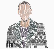 Ninth Doctor Portrait Typography T-Shirt