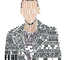 Ninth Doctor Portrait Typography by emziiz