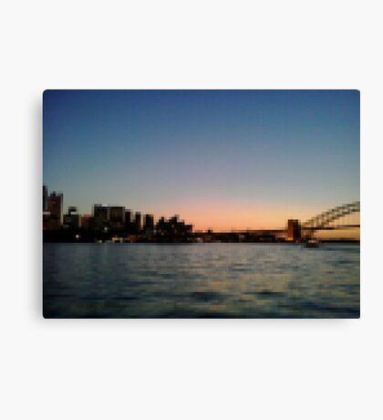 Sydney Harbour Pixels Canvas Print