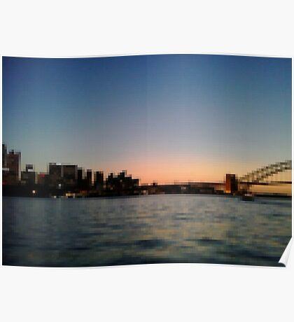 Sydney Harbour Pixels Poster