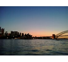 Sydney Harbour Pixels Photographic Print