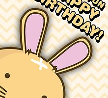 Fuzzballs Happy Birthday Bunny by rabbitbunnies