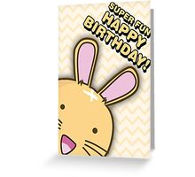 Fuzzballs Happy Birthday Bunny Greeting Card