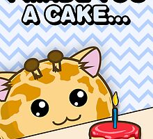 Fuzzballs I Made You A Cake Giraffe by rabbitbunnies