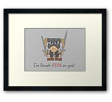 Skyrim Valentines: I'm Dovah-Keen on You Framed Print
