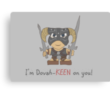 Skyrim Valentines: I'm Dovah-Keen on You Canvas Print