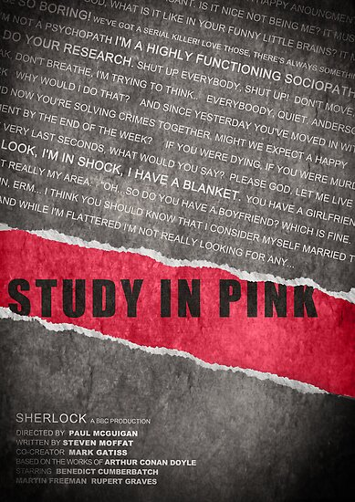 A Study in Pink fan poster by koroa