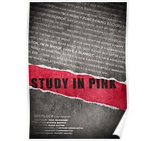 A Study in Pink fan poster Poster