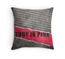 A Study in Pink fan poster Throw Pillow