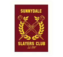 Sunnydale Slayers Club Art Print