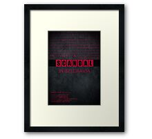 A Scandal in Belgravia fan poster Framed Print