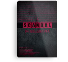 A Scandal in Belgravia fan poster Metal Print