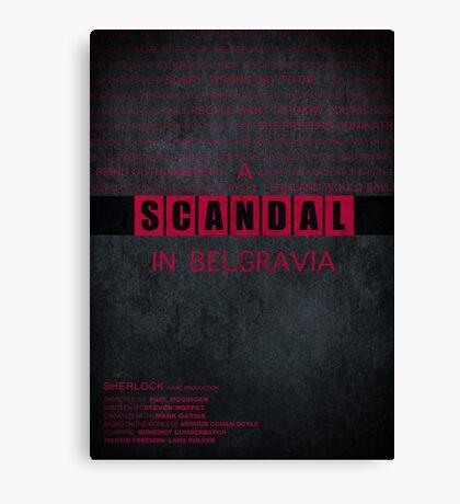 A Scandal in Belgravia fan poster Canvas Print