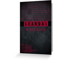 A Scandal in Belgravia fan poster Greeting Card