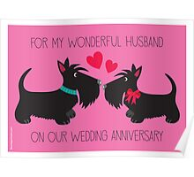 Wonderful Husband – Wedding Anniversary Poster