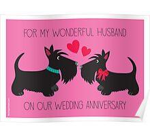 Wonderful Husband – Wedding Anniversary Poster