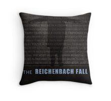 The Reichenbach Fall fan poster Throw Pillow