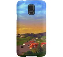 Small village skyline with sunset | landscape photography Samsung Galaxy Case/Skin