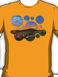Small village skyline with sunset | landscape photography T-Shirt