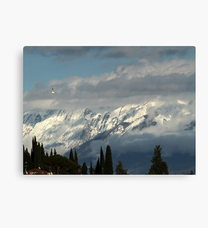 mountains with snow in winter Canvas Print
