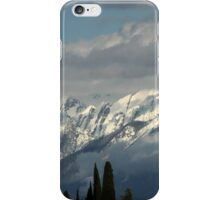 mountains with snow in winter iPhone Case/Skin