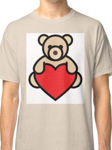 Teddy bear holding red heart Classic T-Shirt